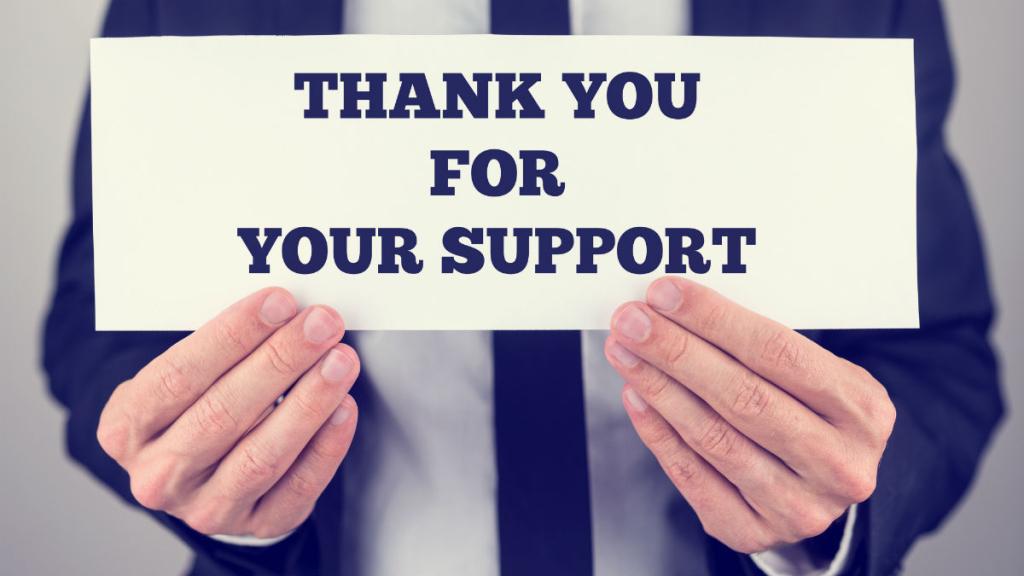 thankyouforyoursupport